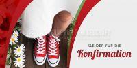 2:1   Kleider für die Konfirmation Plakat   für Werbeaufsteller   2 zu 1 Format