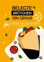 Belegte Brötchen Poster | Werbeposter für Bäckerei