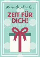 Mein Geschenk Plakat | Werbeplakat für Gutscheine