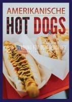 Amerikanische Hot Dogs Plakat | Werbeposter für deinen Imbiss