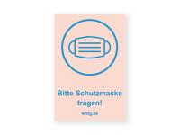 Bitte Schutzmaske tragen Aufkleber | PVC-Plakat