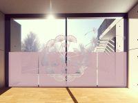 Sichtschutzfolie   Sichtschutz Pusteblumenschirmchen   Pusteblumenschirmchenoptik