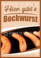 Bockwurst Poster | Werbeposter Bockwurst