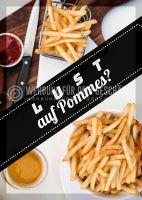 Lust auf Pommes Plakat | Werbetafel Imbiss