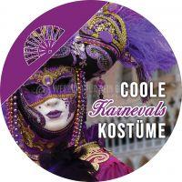 Rund | Coole Karnevals Kostüme Poster | Plakat für Werbeaufsteller | Rundformat