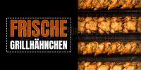 2:1   Frische Grillhähnchen Poster   Werbeposter Grillhähnchen   2 zu 1 Format