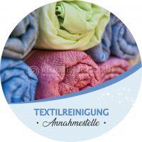 Rund | Textilreinigung Annahmestelle Poster | Werbeplakat drucken lassen | Rundformat