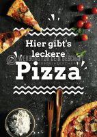 Leckere Pizza Werbeposter | Plakat auch in DIN A 1
