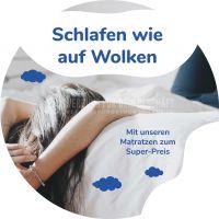 Rund   Schlafen wie auf Wolken Plakat   Werbeplakat für Bettengeschäfte   Rundformat