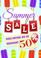 Summer Sale Plakat | Viele Artikel reduziert