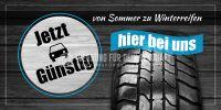 2:1 | Von Sommer zu Winterreifen Plakat | Werbeplakat für Autohaus | 2 zu 1 Format