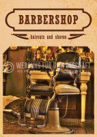 Barbershop Werbeplakat drucken | Poster auch in DIN A 0