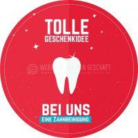 Rund | Tolle Geschenkideen Zahnreinigung Plakat | Werbeschild für Zahnärzte | Rundformat