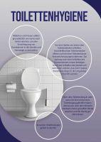 Toilettenhygiene Hinweisschild | Poster online drucken
