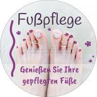 Rund | Fußpflege Poster | Genießen Sie Ihre gepflegten Füße | Rundformat