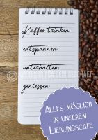 Lieblingscafé Plakat | Werbe- Plakat für Café