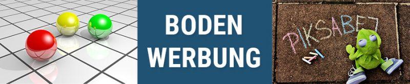 Banner für Bodenwerbung