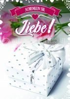 Schenken Sie Liebe Poster | Werbebanner für Geschäfte