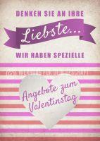 Angebot zum Valentinstag Plakat | Werbetafel für Valentinstag