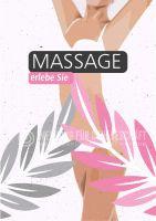 Massage erleben Plakat | Werbeplakat für Massagen