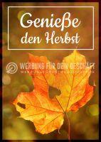 Genieße den Herbst Plakat | Werbeschild für Herbst