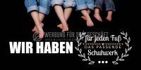 2:1   Das passende Schuhwerk Poster   Werbeposter für Schuhgeschäft   2 zu 1 Format