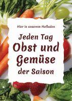 Jeden Tag Obst und Gemüse Poster | Werbeposte für Hofladen