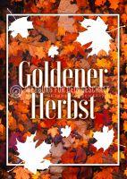 Goldener Herbst Plakat | Werbeschild für Herbst