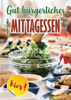Bürgerliches Mittagessen Werbeposter | Plakatwerbung für Imbiss