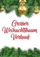 Grosser Weihnachtsbaum Verkauf Poster