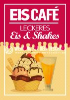 Eiscafé Plakat | Eis & Shakes