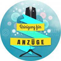 Rund | Reinigung für Anzüge Plakat | Werbung für Plakatständer | Rundformat