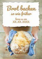 Brot backen Plakat