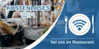 2:1 | Kostenloses WIFI Poster | Werbeposter für Restaurant | 2 zu 1 Format