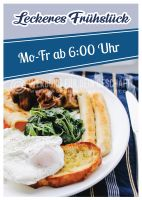 Leckeres Frühstück Poster | Werbeplakat für dein Geschäft