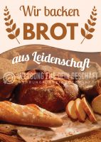 Brot aus Leidenschaft Poster | Werbebanner Brot