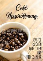 Cafe Neueröffnung Poster | Werbebanner für Cafes