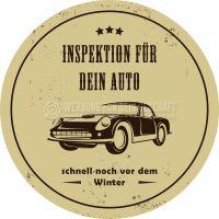Rund | Inspektion für dein Auto Werbetafel | Werbung für Plakatständer | Rundformat