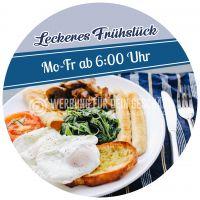 Rund   Leckeres Frühstück Poster   Werbeplakat für dein Geschäft