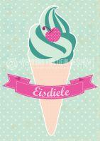 Eisdiele Poster | Werbe-Poster für Eisdiele