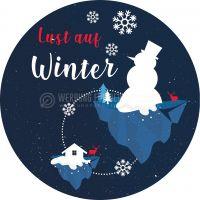 Rund   Lust auf Winter Plakat   Für Werbeaufsteller   Rundformat