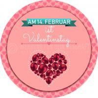 Rund | 14. Februar Valentinstag Poster | Werbeposter für Valentinstag | Rundformat