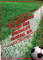 Spannende Fußball WM Poster