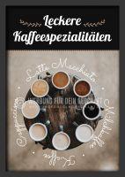 Kaffee Sorten Plakat | Werbetafel Kaffee