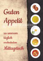 Guten Appetit Poster | Werbeposter für Mittagstisch