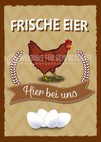 Frische Eier Poster | Werbeschild für Eierverkäufer