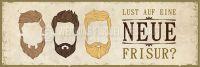 3:1 | Lust auf eine neue Frisur Poster | Plakat für Werbeaufsteller | 3 zu 1 Format