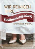 Wir reinigen Festtagsbekleidung Poster | Werbetafel für Reinigung