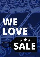 We love Sale Werbeschild | Poster für Plakatständer
