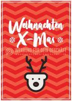 Weihnachten X-Mas Plakat